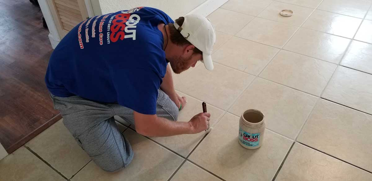 GROUT STAINING - The GroutBOSS